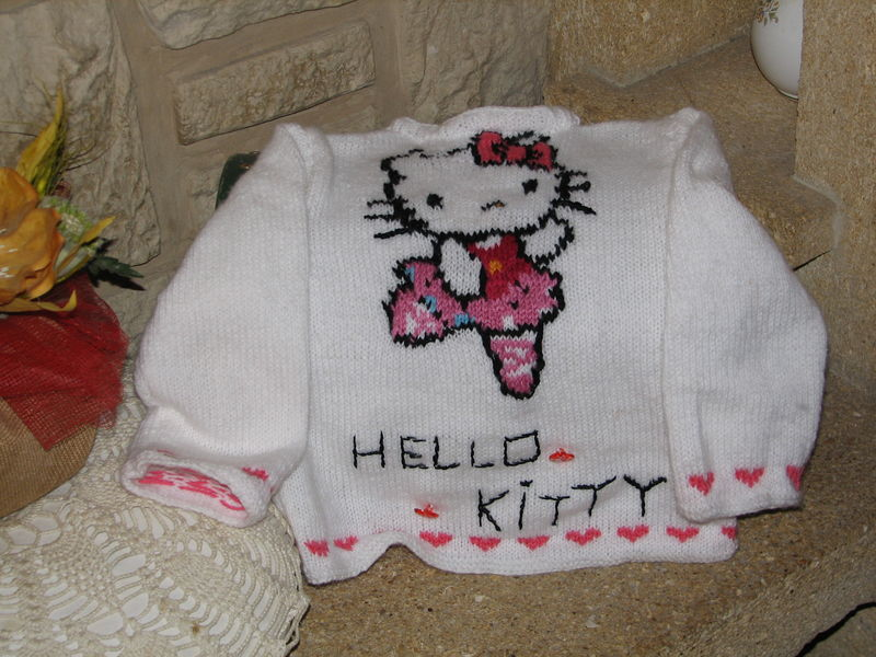 modele tricot gratuit hello kitty