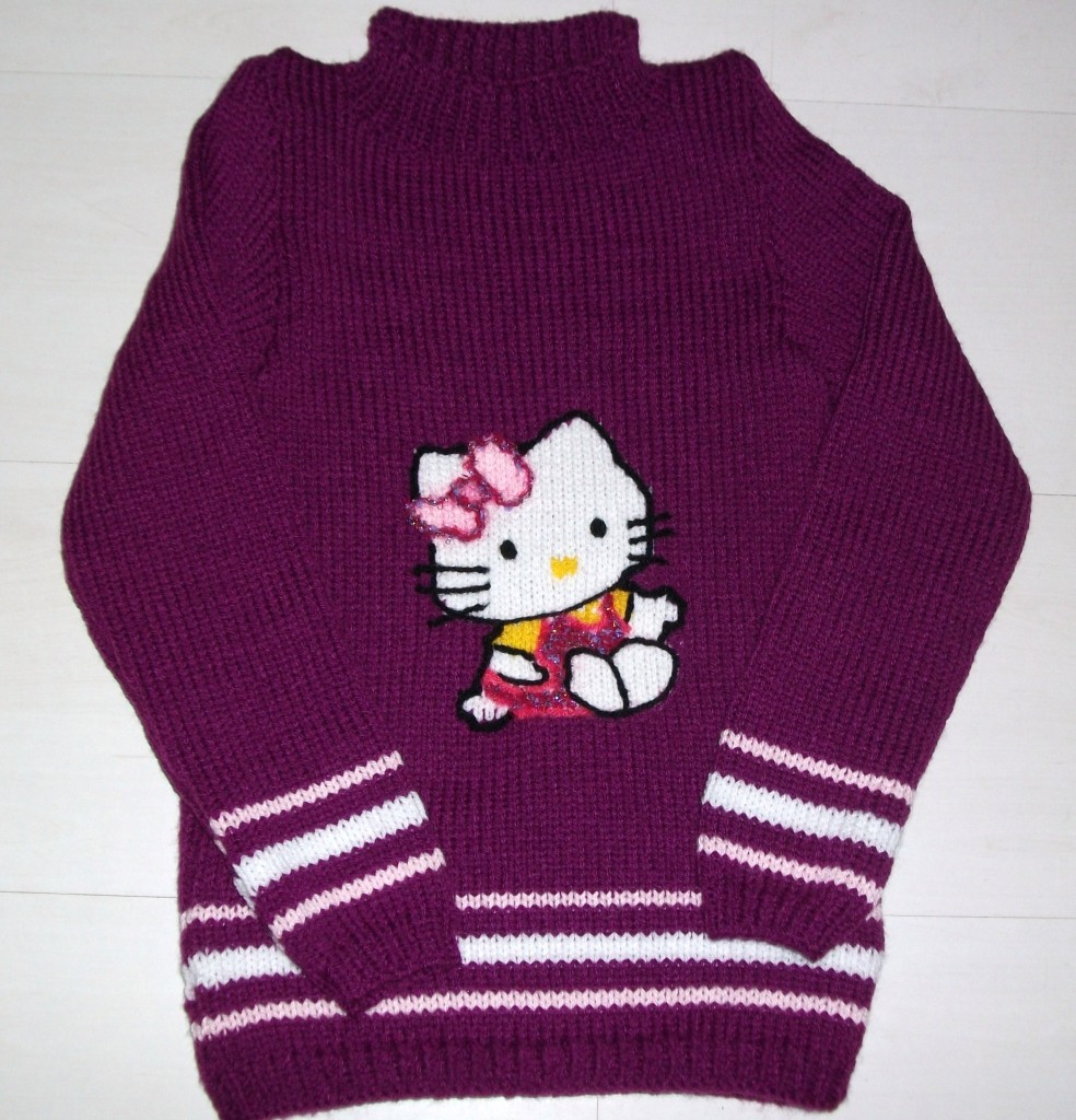 modele pull tricot hello kitty gratuit #6