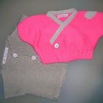 modele tricot bébé cache coeur #12