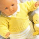 modele tricot bébé cache coeur #3