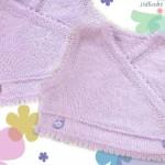 modele tricot bébé cache coeur #6