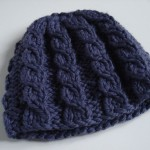 modele tricot bonnet femme torsade #13