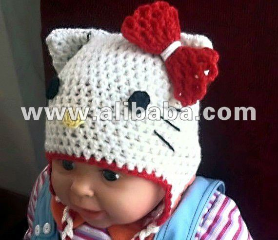 modele tricot chausson hello kitty #7