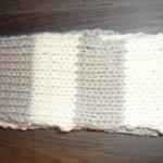 modele tricot echarpe jersey #4