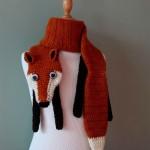 modele tricot echarpe renard #10
