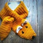modele tricot echarpe renard #1