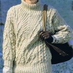 modele tricot gilet irlandais femme #10