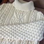 modele tricot gilet irlandais femme #12