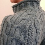 modele tricot gilet irlandais femme #13