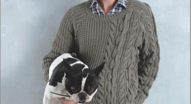 modele tricot gilet irlandais femme #15