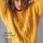 modele tricot gilet irlandais femme #1