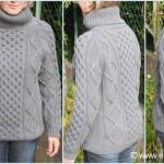 modele tricot gilet irlandais femme #2