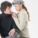 modele tricot gilet irlandais femme #3