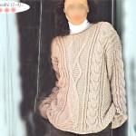 modele tricot gilet irlandais femme #4