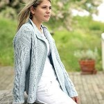modele tricot gilet irlandais femme #6