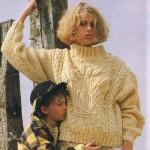 modele tricot gilet irlandais femme #7