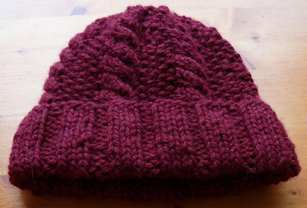 modele tricot gratuit beret femme #7