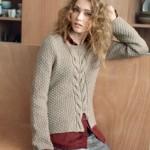 modele tricot homme torsade #11
