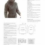 modele tricot homme torsade #12