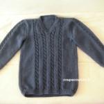 modele tricot homme torsade #13