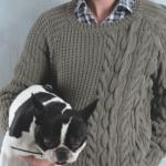modele tricot homme torsade #2