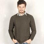 modele tricot homme torsade #4