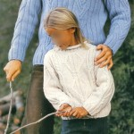modele tricot irlandais bebe #10