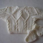 modele tricot irlandais bebe #11