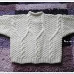 modele tricot irlandais bebe #12