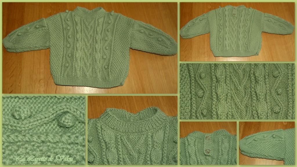 modele tricot irlandais bebe #13