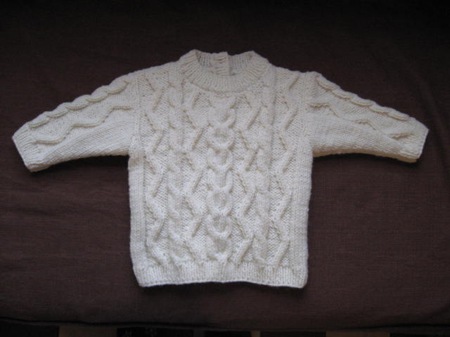 modele tricot irlandais bebe #14