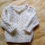modele tricot irlandais bebe #16