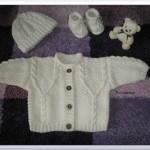 modele tricot irlandais bebe #17