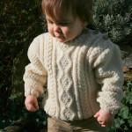modele tricot irlandais bebe #5
