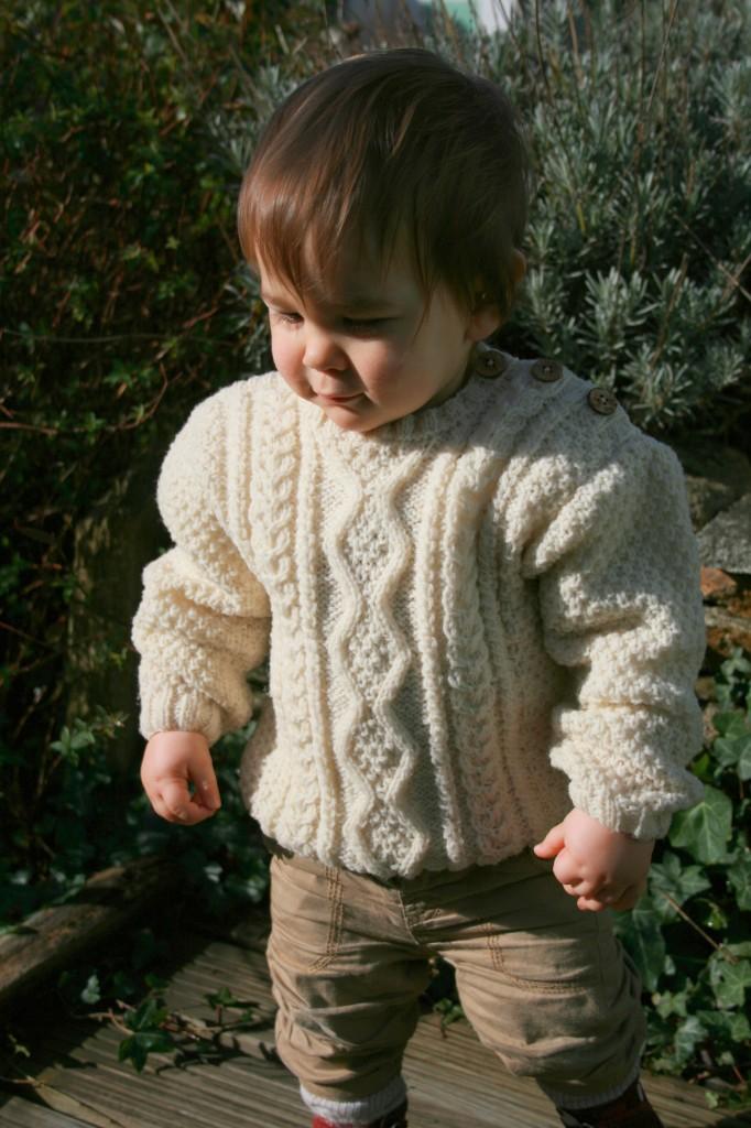 Modèle tricot layette écharpe bébé Arthur
