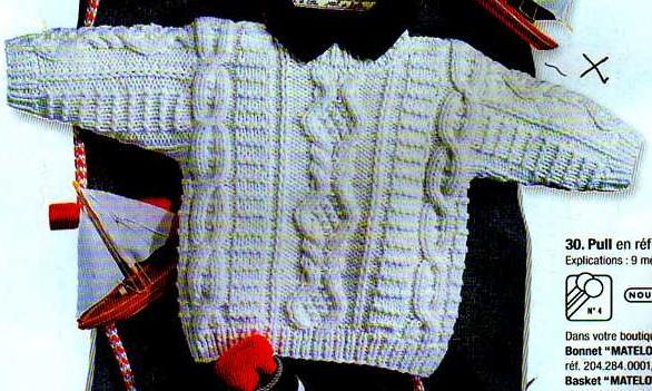 modele tricot irlandais bebe #9