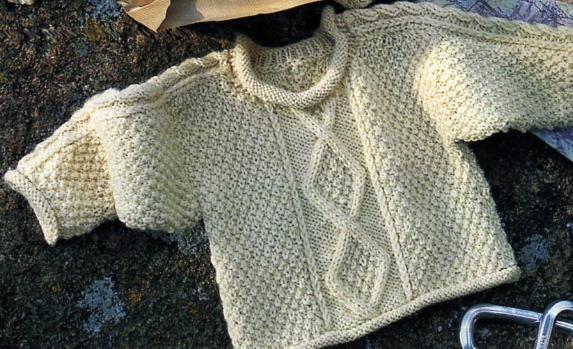 modele tricot irlandais bebe #1