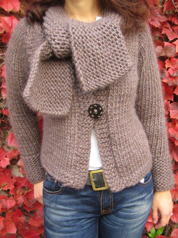 modele tricot veste simple #14