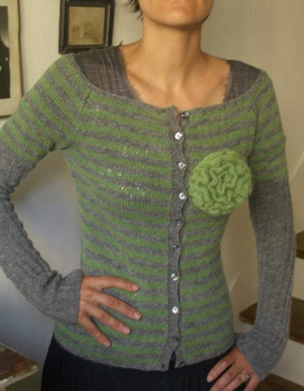 modele tricot veste simple #3