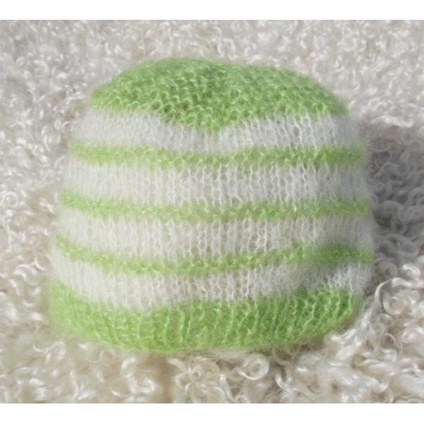 patron tricot bonnet bebe naissant #13