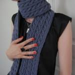 patron tricot foulard torsade #11