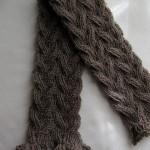 patron tricot foulard torsade #12