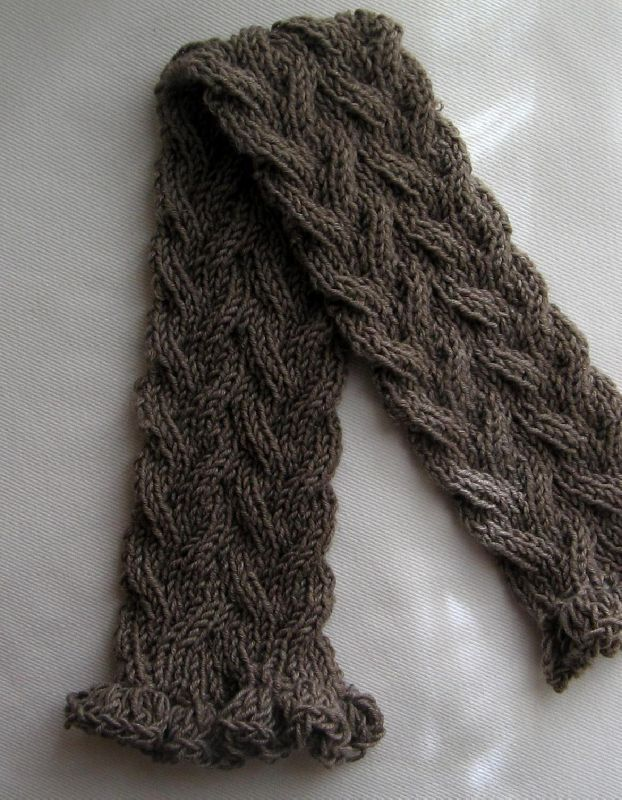 patron tricot foulard torsade