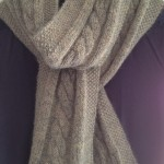 patron tricot foulard torsade #15