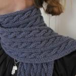 patron tricot foulard torsade #1