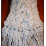patron tricot foulard torsade #18