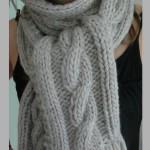 patron tricot foulard torsade #5
