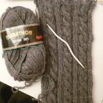patron tricot foulard torsade #7