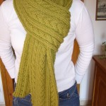 patron tricot foulard torsade #9