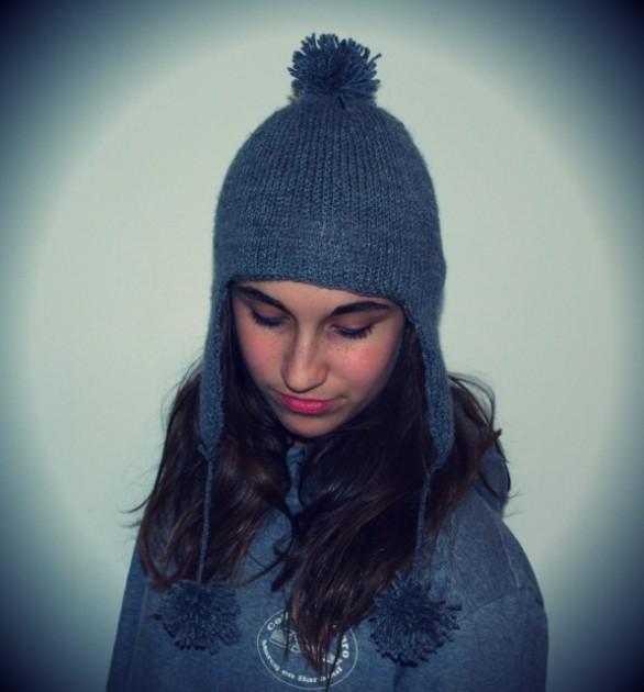 tricot modele bonnet peruvien #15